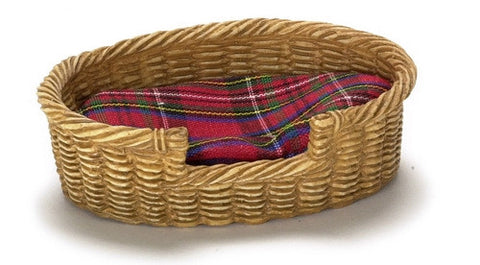 Pet Basket Bed, Large, Oval
