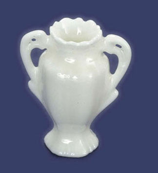 White Porcelain Vase with Handles