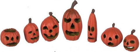 Pumpkins, Set of Seven, Assorted