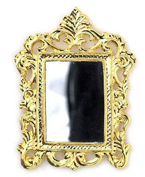 Gold Mirror with Fleur De Lis Top