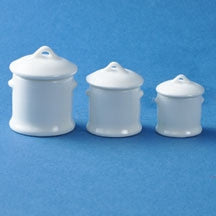 Cannister Set, Three Piece White