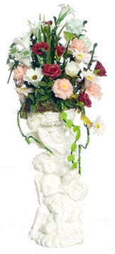 Hydrangea Arrangement on Pedestal