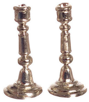 Candlesticks, Silver Plated, Pair