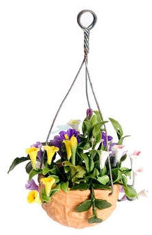 Mixed Flowers in Hanging Pot