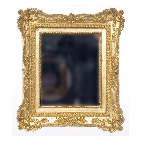 Mirror In Ornate Gold Frame Dollhouse Junction