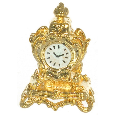 Mantle Clock, Gold Plated, Small