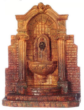 Mercer Gardens Wall Fountain, Tan