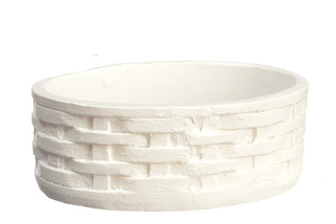 White Oval Woven Basket