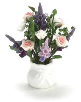Floral Arrangement in White Vase