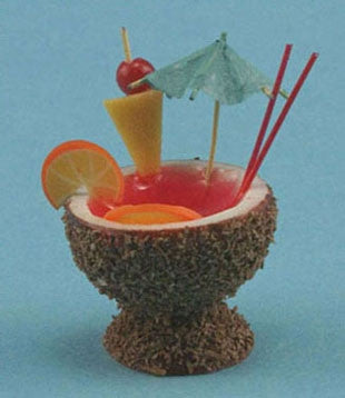 Coconut Fruit Punch Cocktail