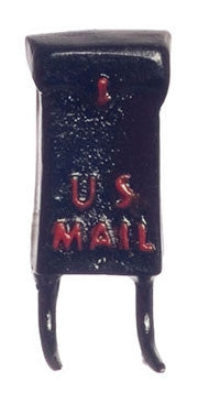 Mail Box, Black with Red Lettering