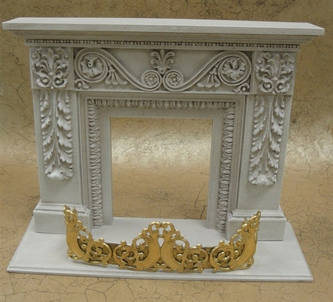 Queen Victoria Fireplace Fender, Gold Finish