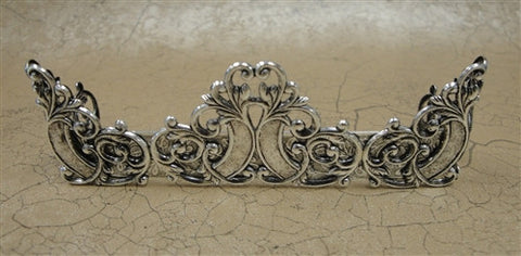 Queen Victoria Fireplace Fender, Silver Finish
