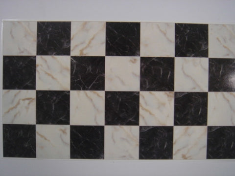 Floor Tile, Black and White Marble
