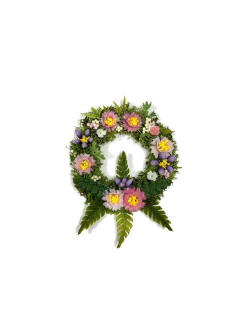 Floral Wreath with Ferns