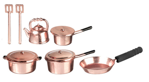 Cookware Set, Copper, 10 Piece, Metal