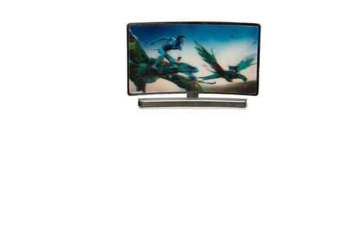 Curved TV Screen with 3D Image