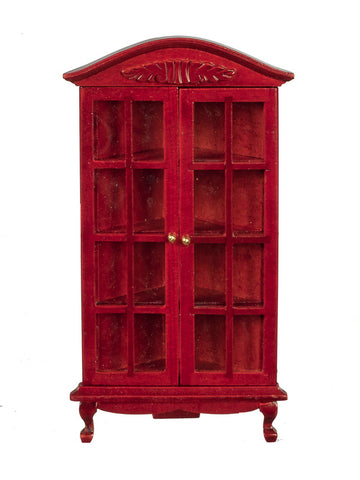 Corner Cupboard with Glass Doors, Mahogany