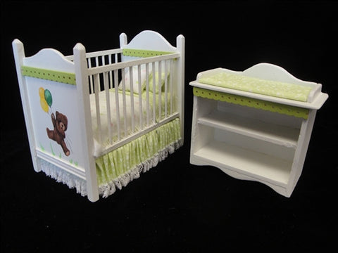 Nursery Set, Green Check