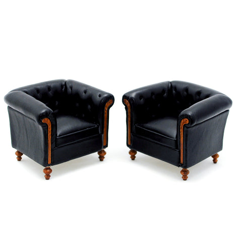 Set of Bespaq  Leather Club Chairs