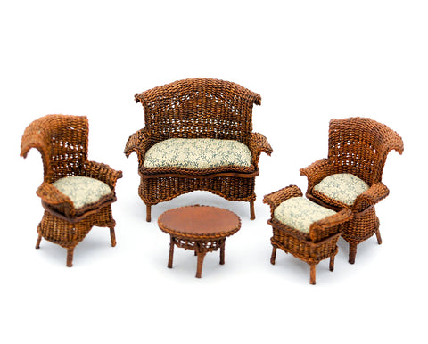 Five Piece Wicker Set