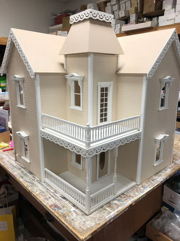 Victorian Dollhouse, Assembled, Painted and Wired