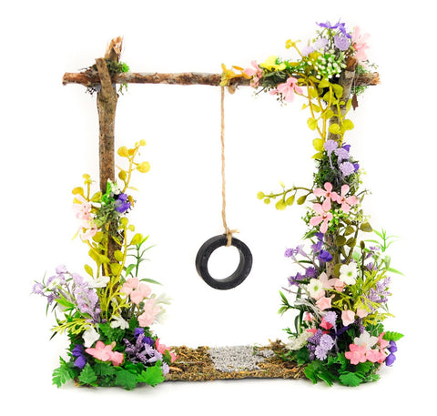 Spring Tire Swing with Flowers