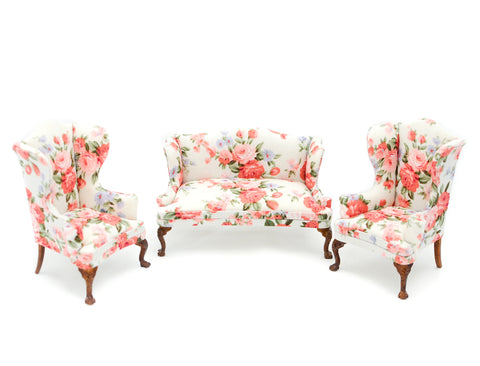 Three Piece Living Room Set, Floral