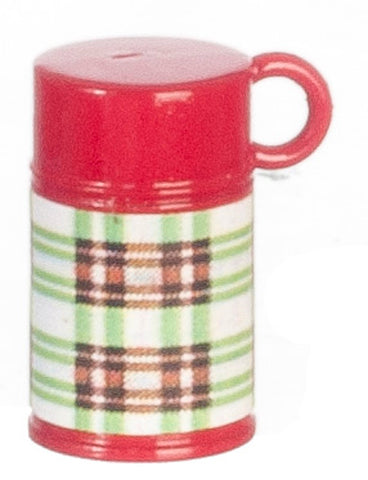 Thermos, Red and Green Plaid