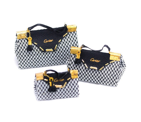Cartier Style Houndstooth Bag Set