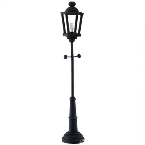 Black Yard Lamp, LED Battery Powered