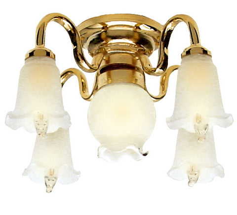 Five Light Victorian Ceiling Chandelier