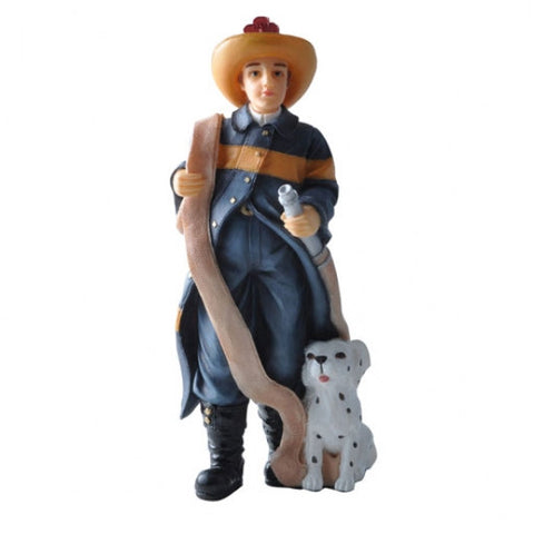 Fireman Roy and his dog, Resin Doll Figure