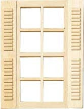 Standard 8 light window with shutters
