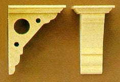 Victorian Eaves Bracket, Set of Four