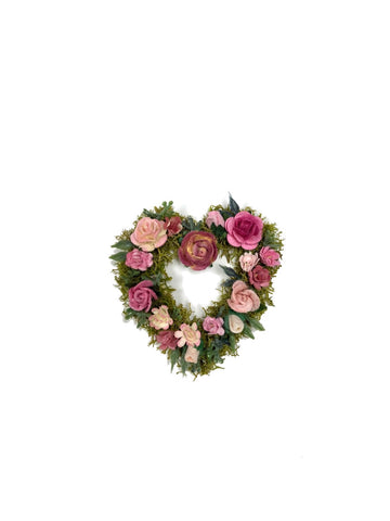 Heart Rose Wreath