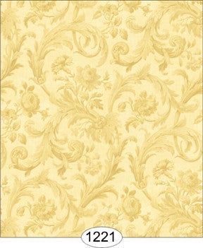 Cottage Acanthus Damask - Gold on Ivory