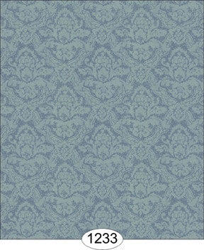Wallpaper - Damask - Blue
