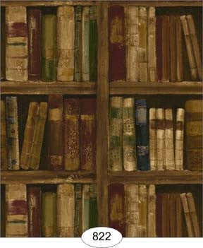 Wallpaper, Library, Brown Tones