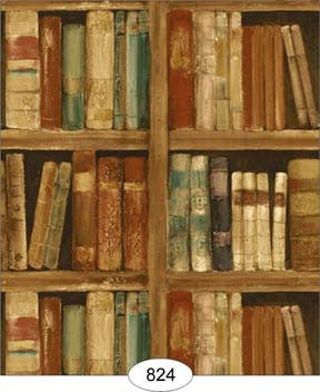 Wallpaper, Library, Beige Tones