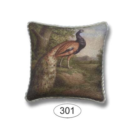 Pillow with Peacock