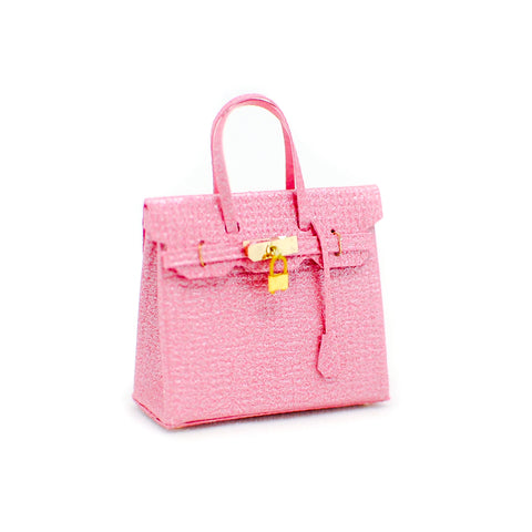 Birkli Dollhouse Handbag Purse, Pink