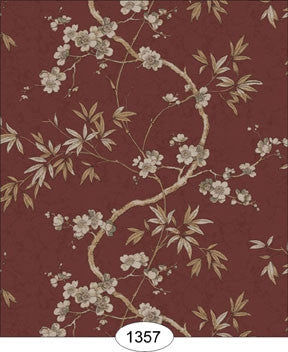 Japanese Dogwood Vine, Burgandy Wallpaper