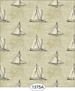 Sailboat Print, Black