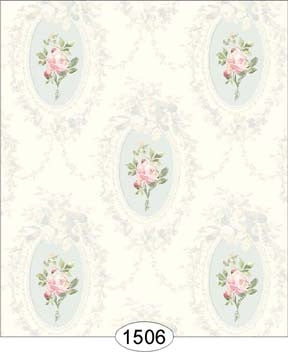 Camilla Floral Pink on Blue