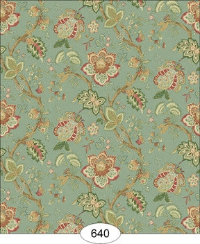 Jacobean, Jordan, Teal Wallpaper