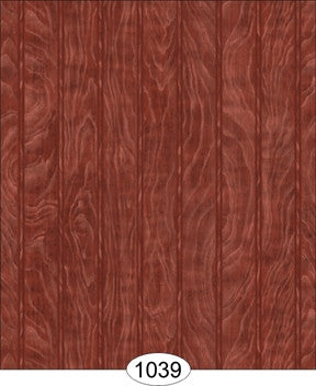 Beadboard Wallpaper, Burgandy Tone