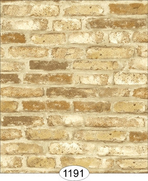 Wallpaper, Tumbled Brick, Gold
