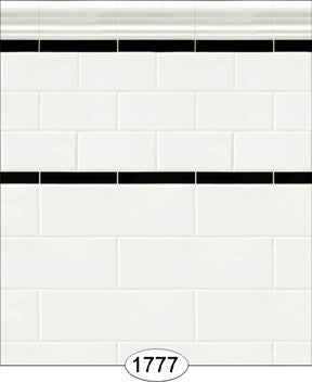 Wallpaper - Subway Tile - Antique White