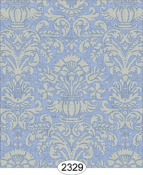 Annabelle Damask Blue Serenity with Cream